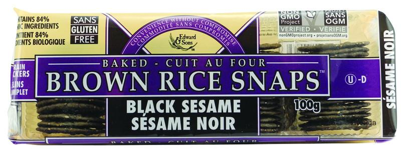 Food & Drink - Edward & Sons - Rice Snaps - Black Sesame, 100g