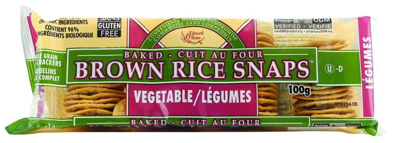 Food & Drink - Edward & Sons - Rice Snaps -Vegetable, 100g