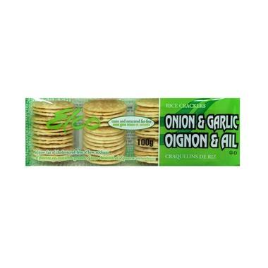 Food & Drink - Elco - Onion & Garlic Rice Crackers - 100G