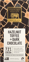 Food & Drink - Endangered Species Chocolate - Dark Chocolate Bar With Hazelnut Toffee - 85G