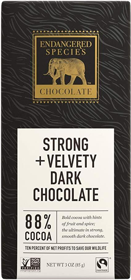 Food & Drink - Endangered Species Chocolate - Dark Chocolate With 88% Cocoa, 85g