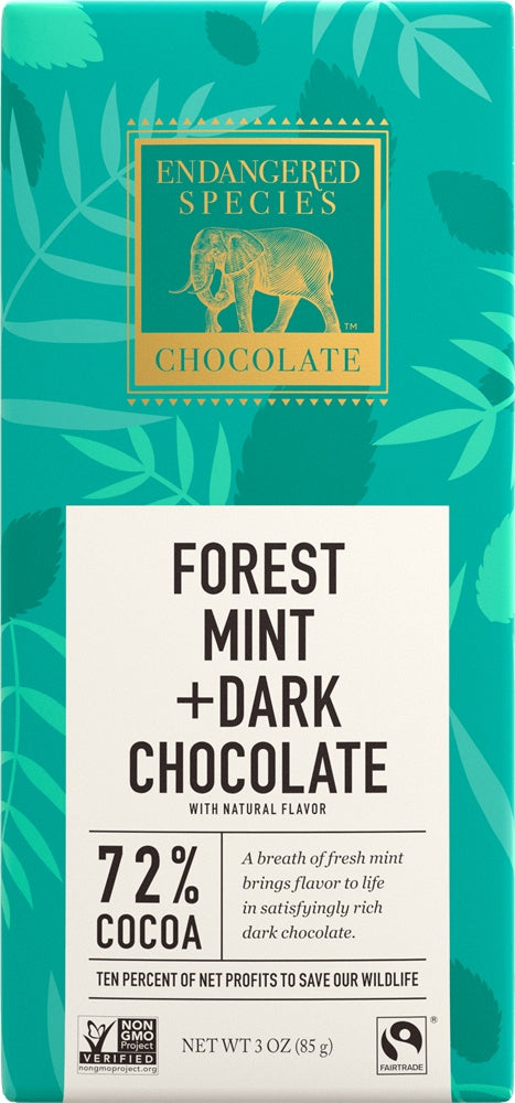 Food & Drink - Endangered Species Chocolate - Dark Chocolate With Forest Mint, 85g