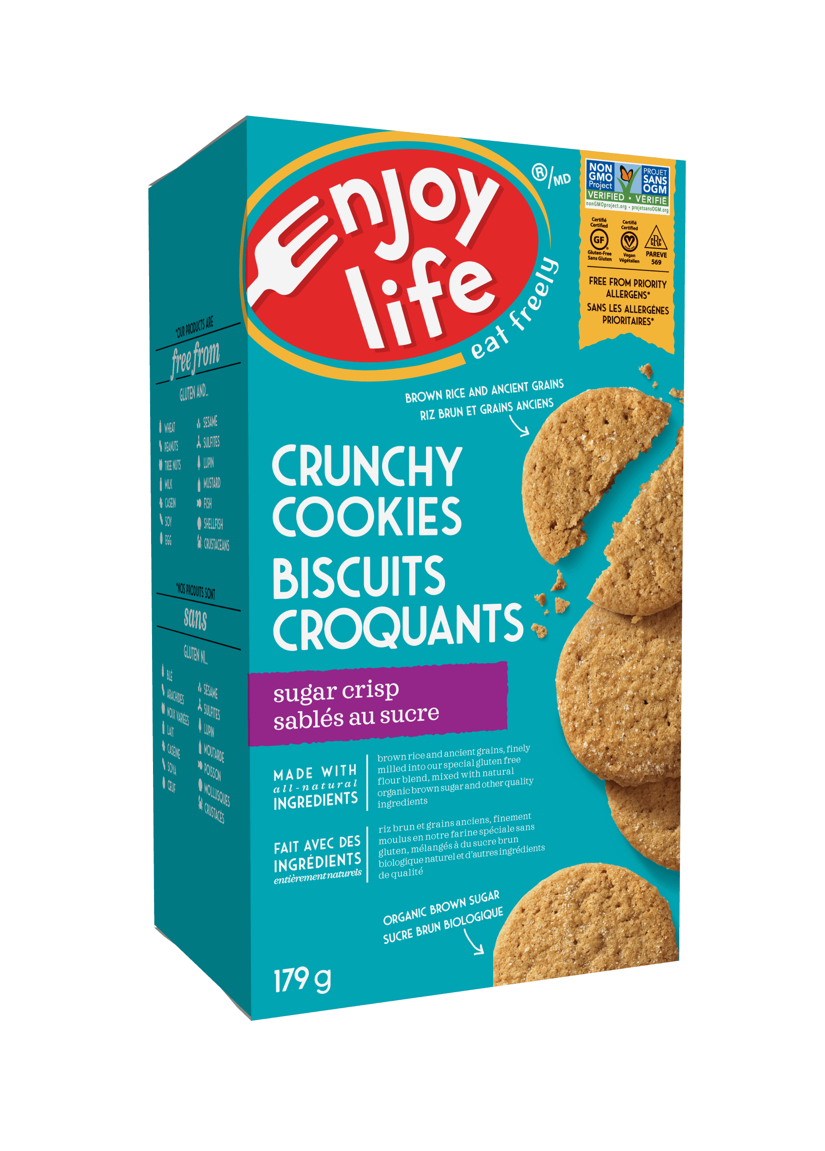 Food & Drink - Enjoy Life - Crunchy Cookies, Sugar Crisp 179 G