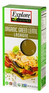 Food & Drink - Explore Cuisine Green Lentil Lasagna 227g
