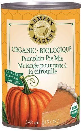 Food & Drink - Farmer's Market - Organic Pumpkin Pie Mix, 398ml