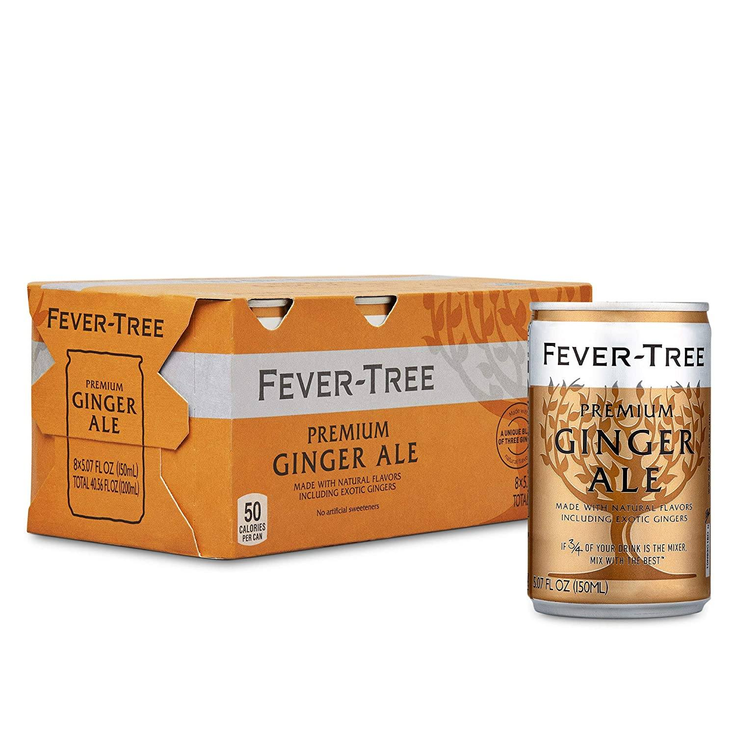 Food & Drink - Fever-Tree - Ginger Ale, 8x150ml