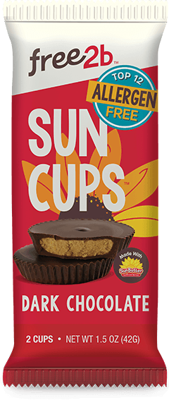 Food & Drink - Free2b - Sun Cups Dark Chocolate, 42g