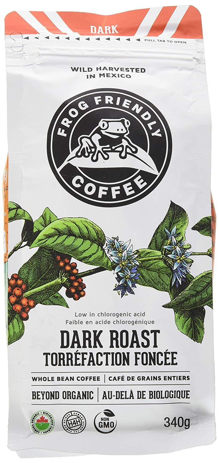 Food & Drink - Frog Friendly Coffee - Wild Whole Dark Roast, 340g