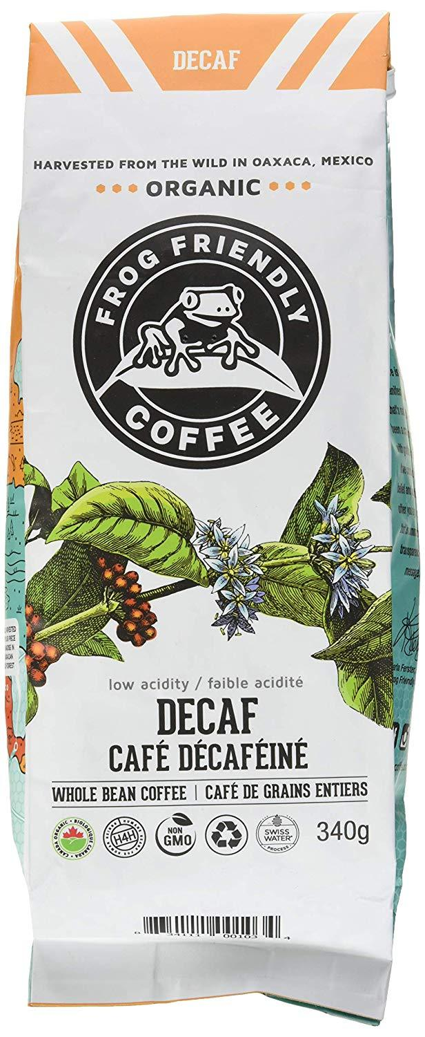 Food & Drink - Frog Friendly Coffee - Wild Whole Decaf Roast, 340g