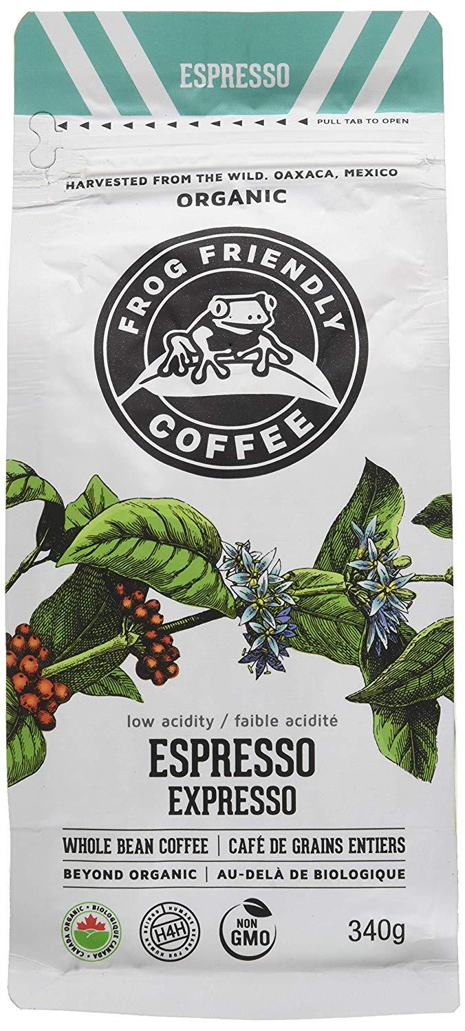 Food & Drink - Frog Friendly Coffee - Wild Whole Espresso Roast, 340g