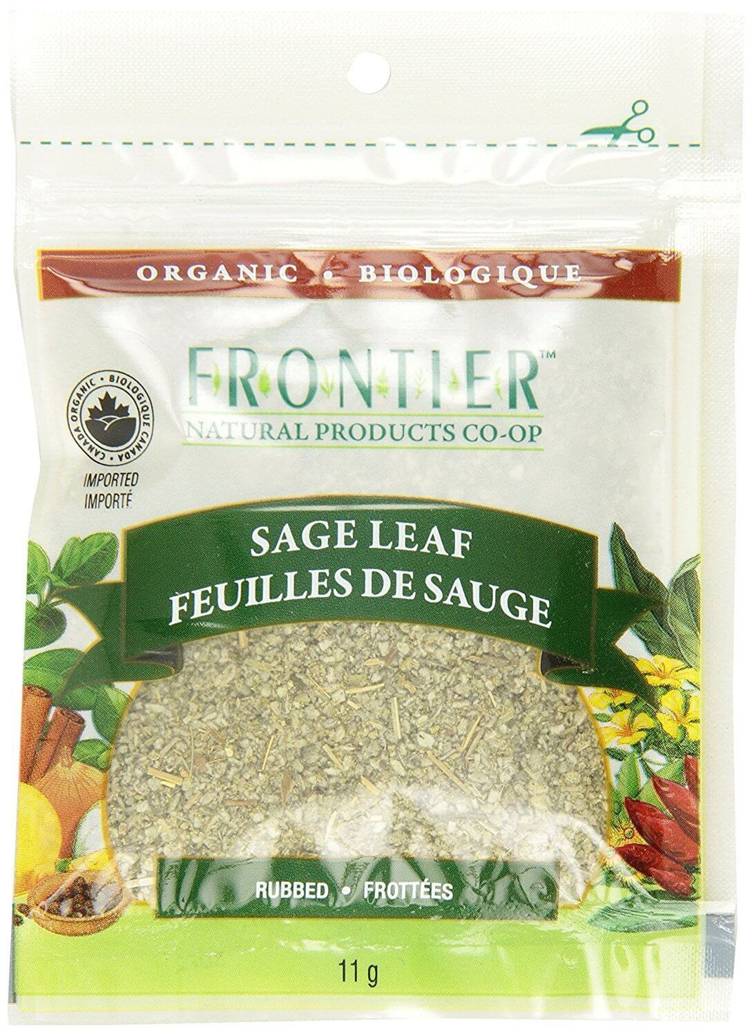 Food & Drink - Frontier Co-Op - Organic Rubbed Sage Leaf, 11g