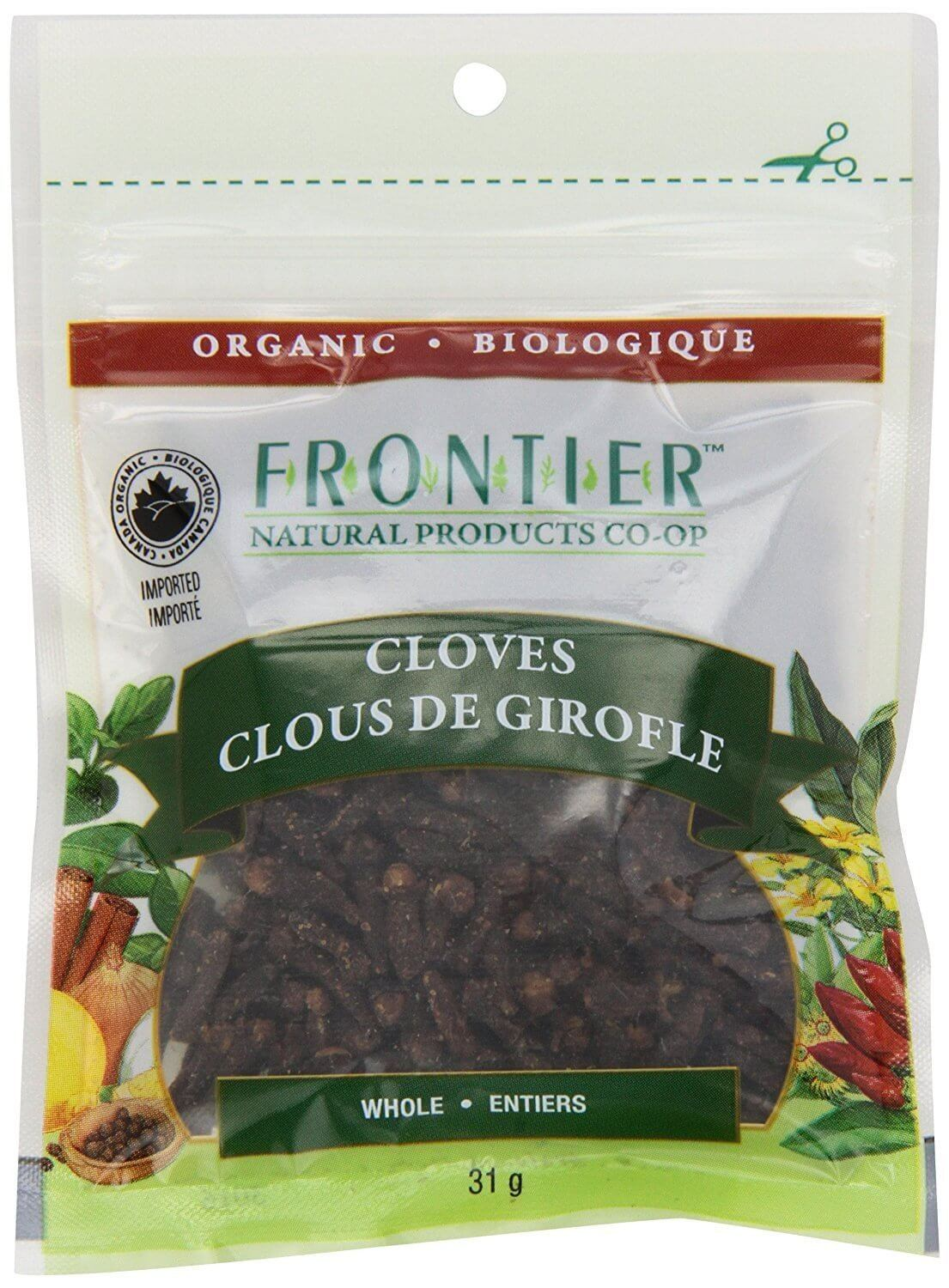 Food & Drink - Frontier Co-Op - Organic Whole Cloves, 31g