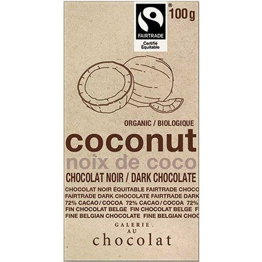 Food & Drink - Galerie Au Chocolat - Coconut Dark Chocolate Bar, 100g