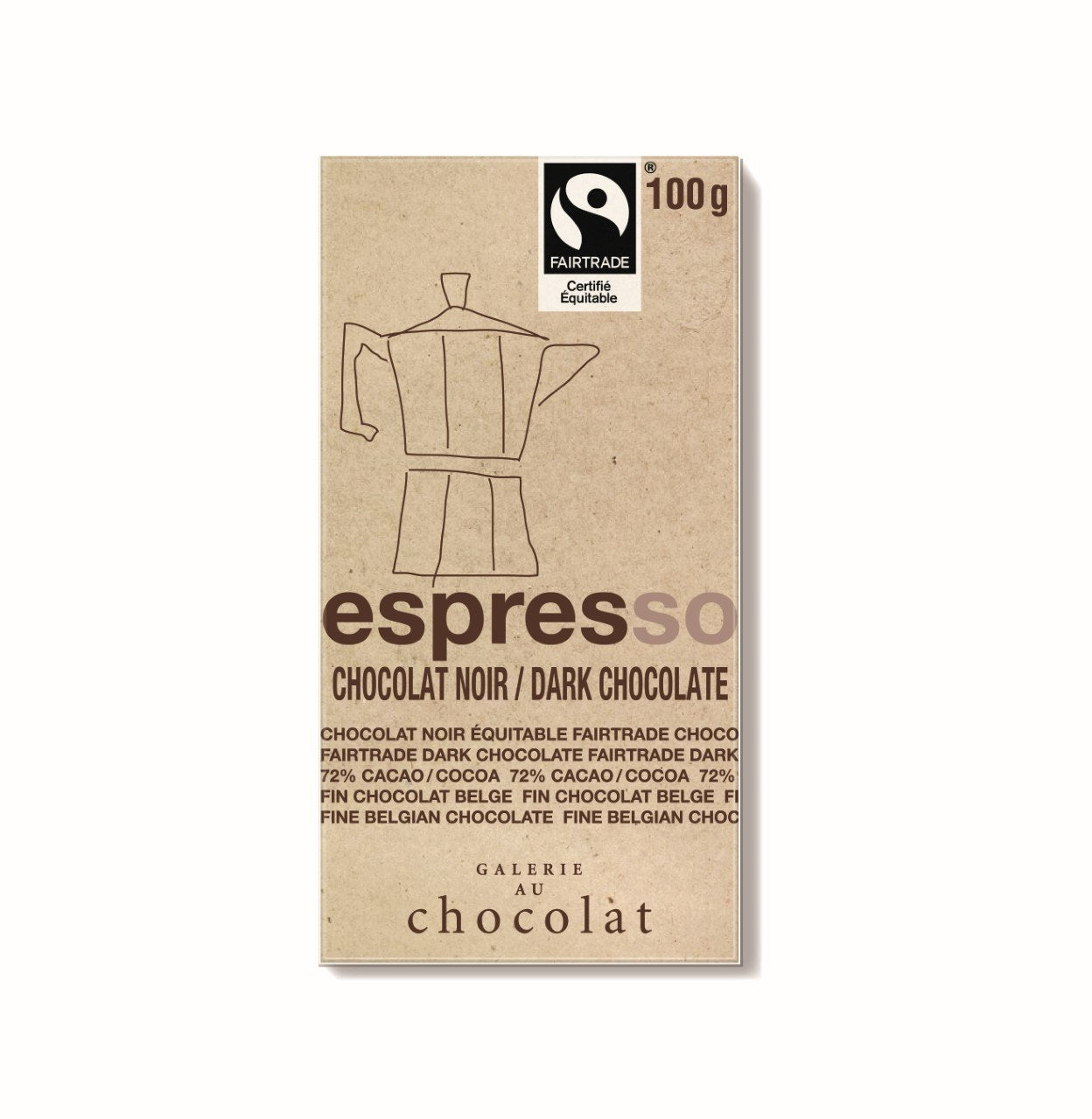 Food & Drink - Galerie Au Chocolat - Espresso Dark Bar, 100g