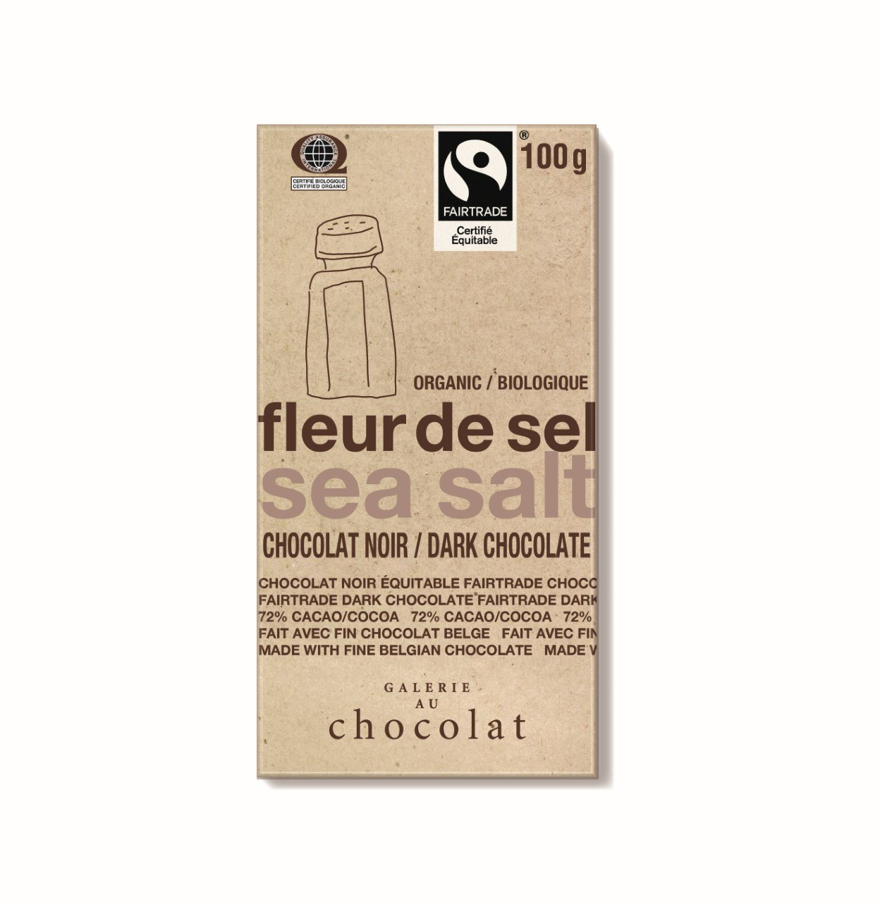 Food & Drink - Galerie Au Chocolat - Sea Salt Dark Bar, 100g