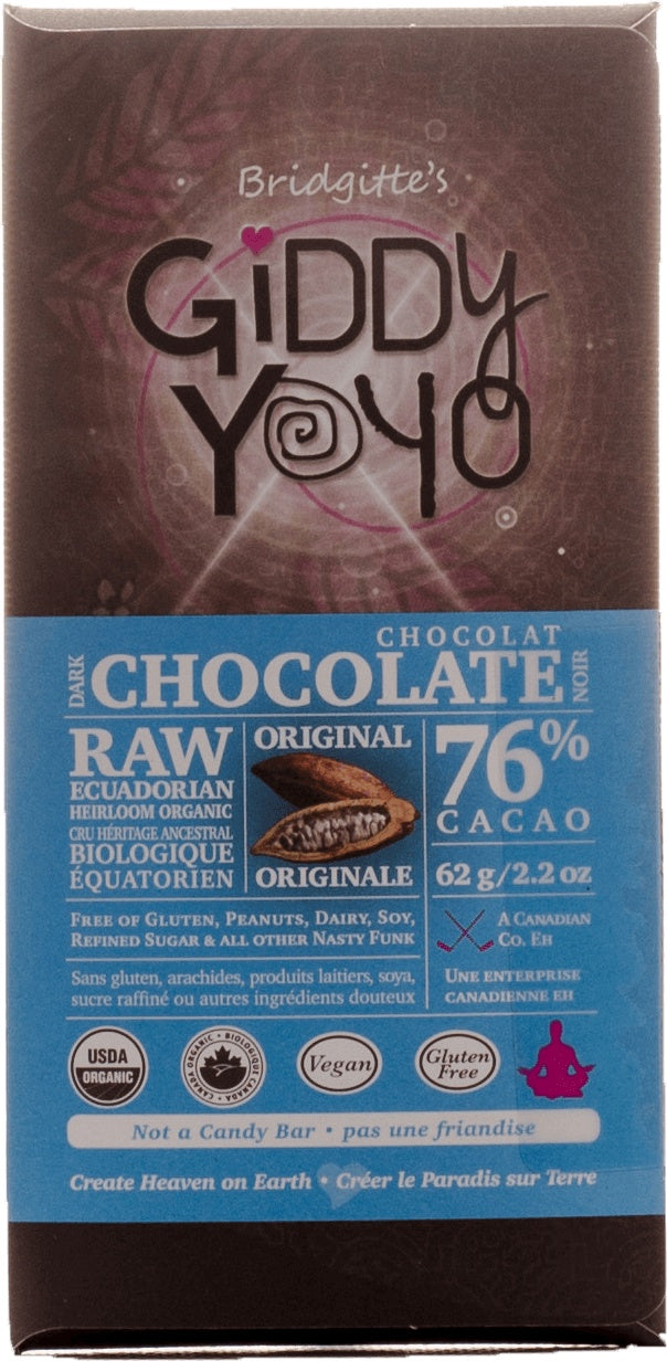 Food & Drink - Giddy Yoyo - Original 76% Chocolate Bar, 62g