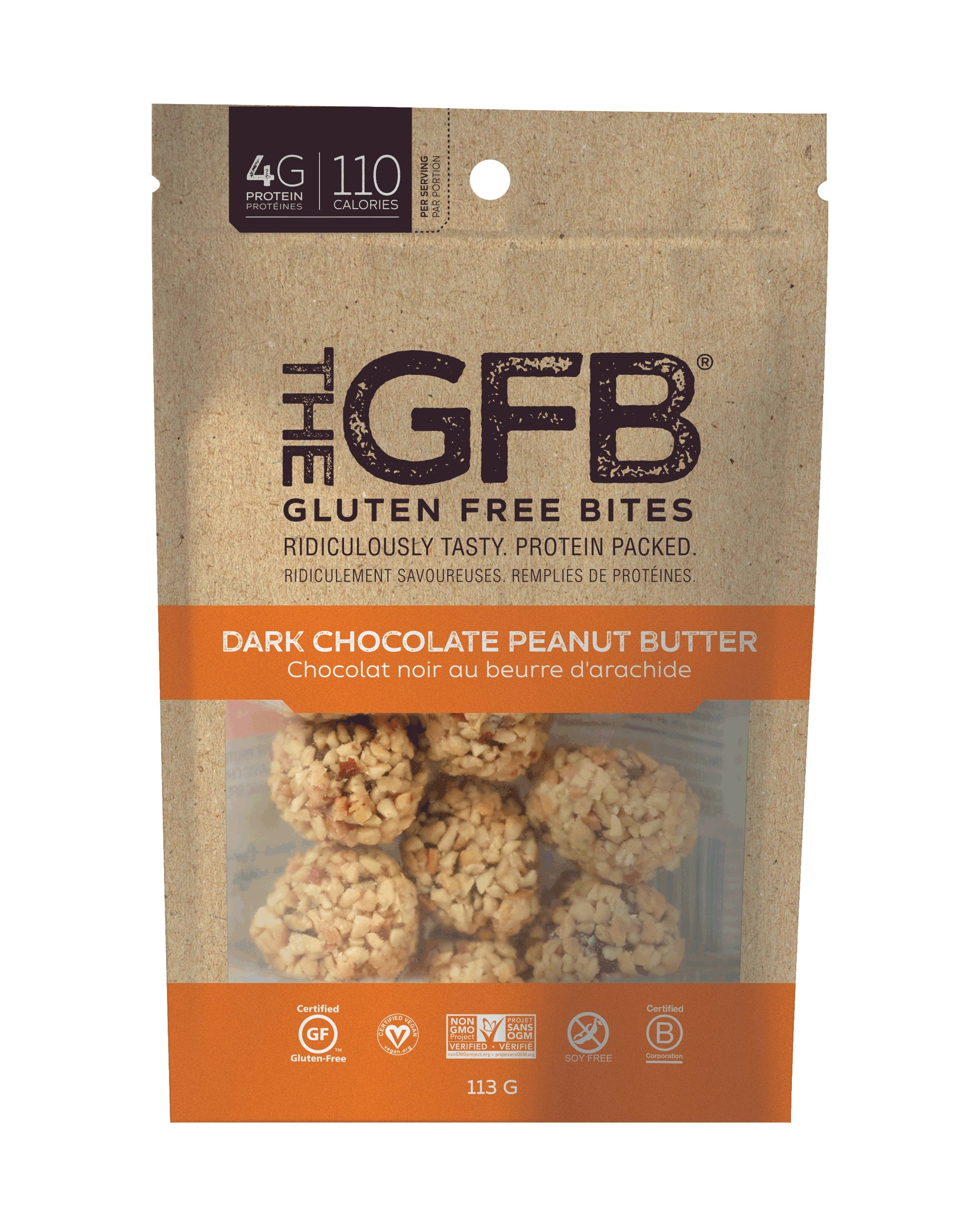 Food & Drink - Gluten Free Bar Chocolate Peanut Butter Bites 113g