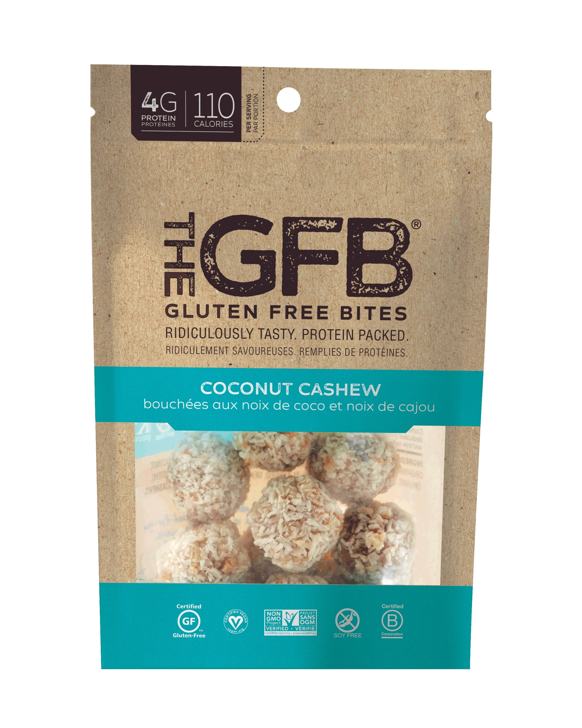 Food & Drink - Gluten Free Bar - Coconut Cashew Bites - 113g