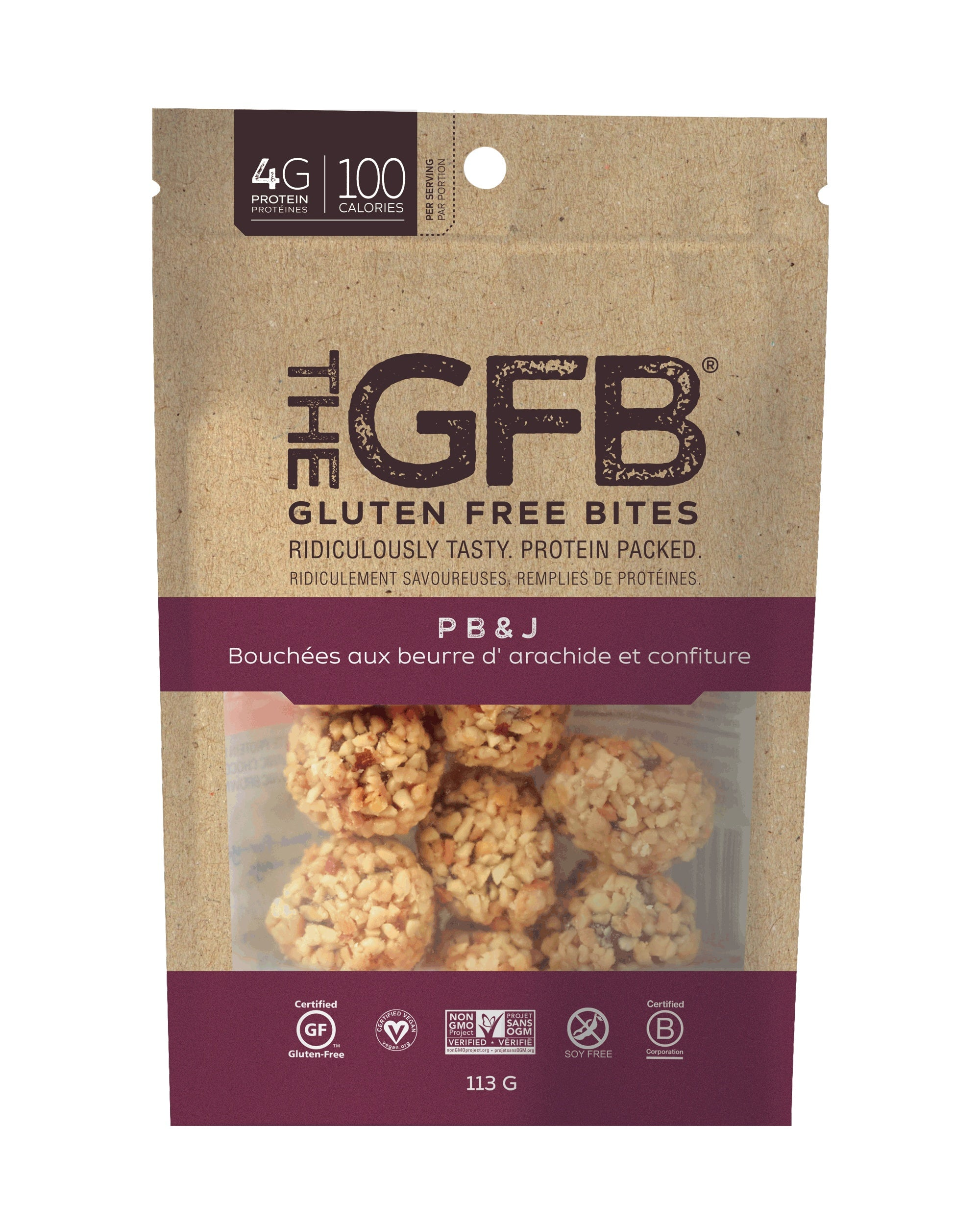 Food & Drink - Gluten Free Bar - Peanut Butter & Jelly Bites, 113g