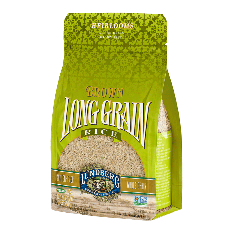 Food & Drink,Gluten Free,Vegan,Non GMO - Lundberg Family Farms - Long Grain Brown Rice, 907g