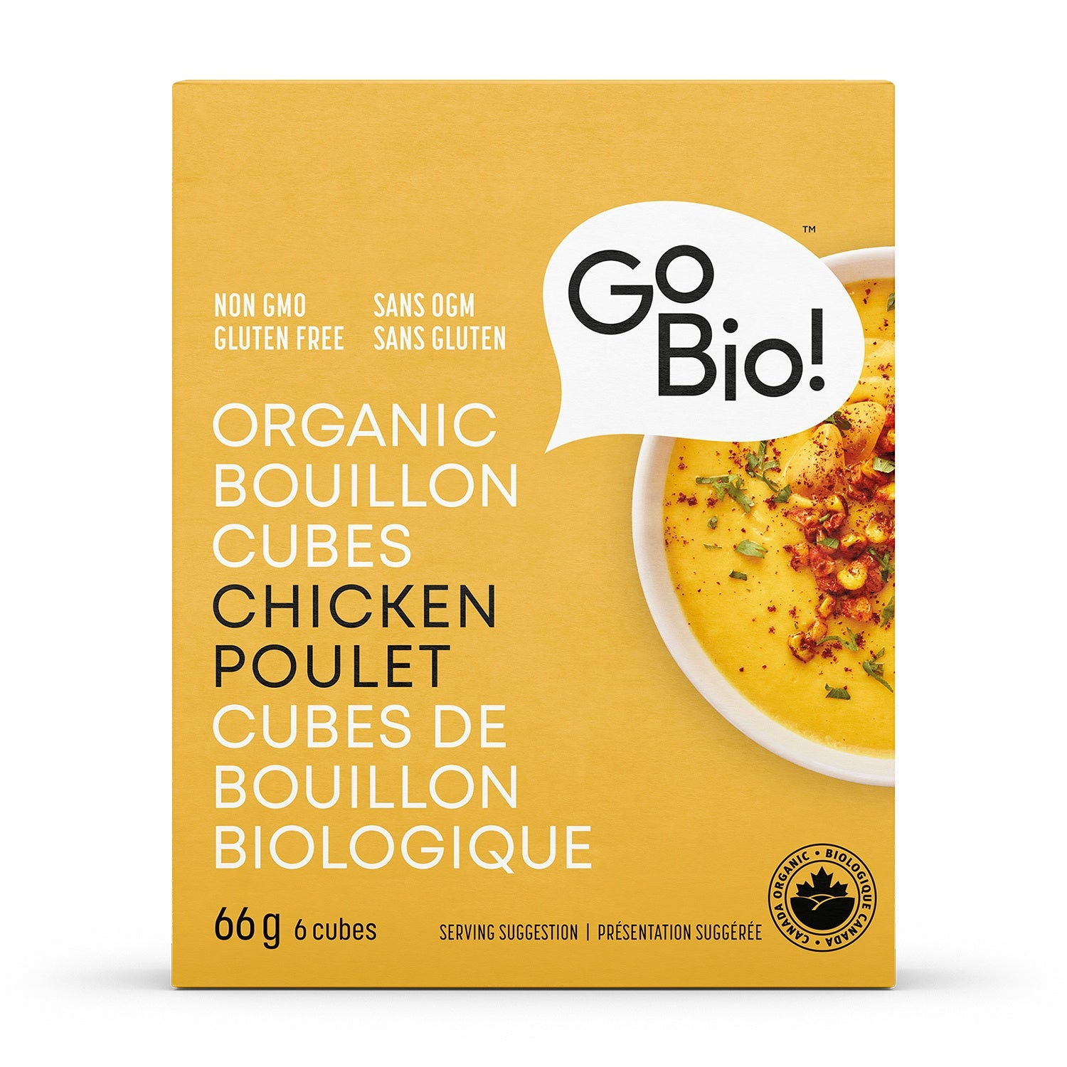 Food & Drink - GoBio - Organic Chicken Bouillon Cubes, 66g