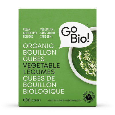 Food & Drink - GoBio - Organic Vegetable Bouillon Cubes, 66g
