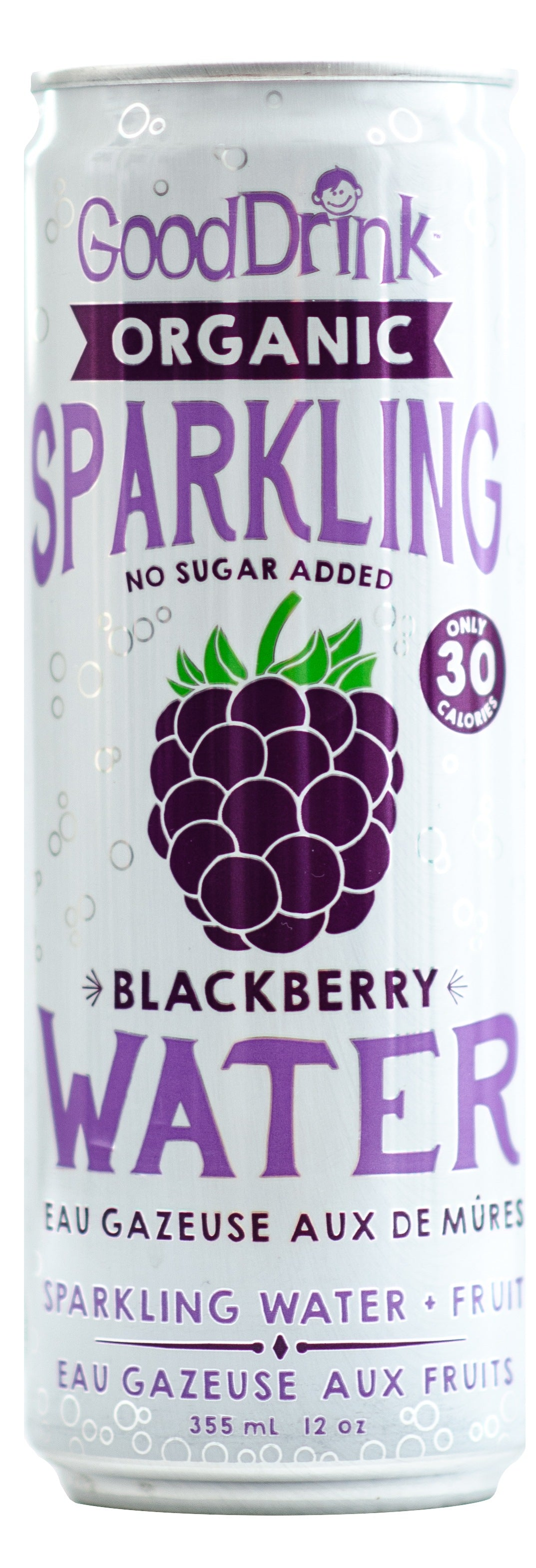 Food & Drink - Good Drink - Sparkling Water, Blackberry, 355ml