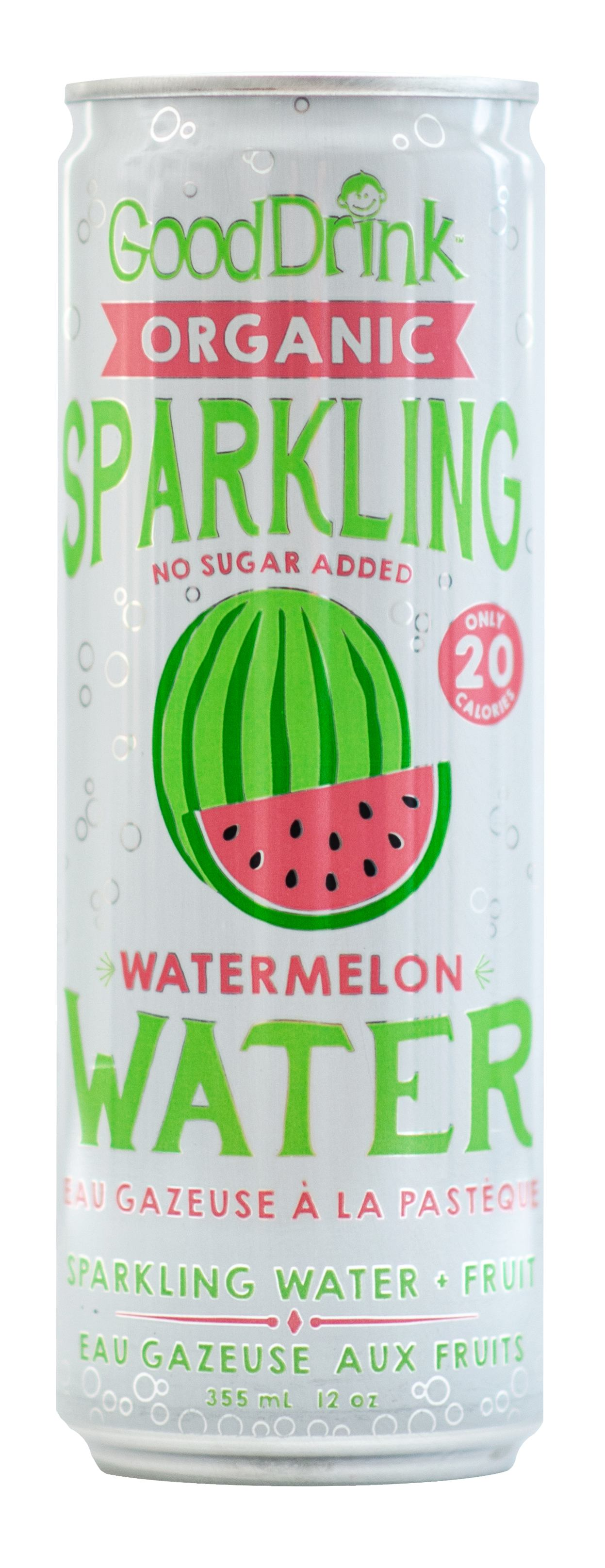 Food & Drink - Good Drink - Sparkling Water, Watermelon, 355ml
