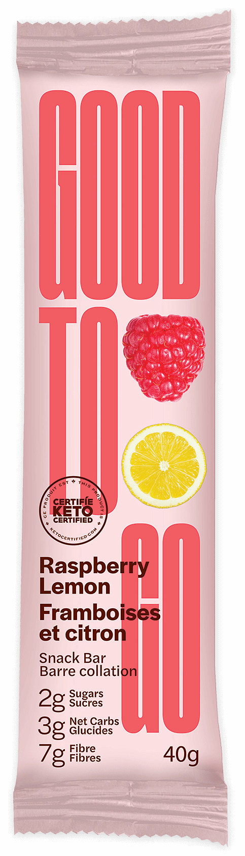 Food & Drink - Good To Go - Raspberry Lemon Snack Bar, 40g
