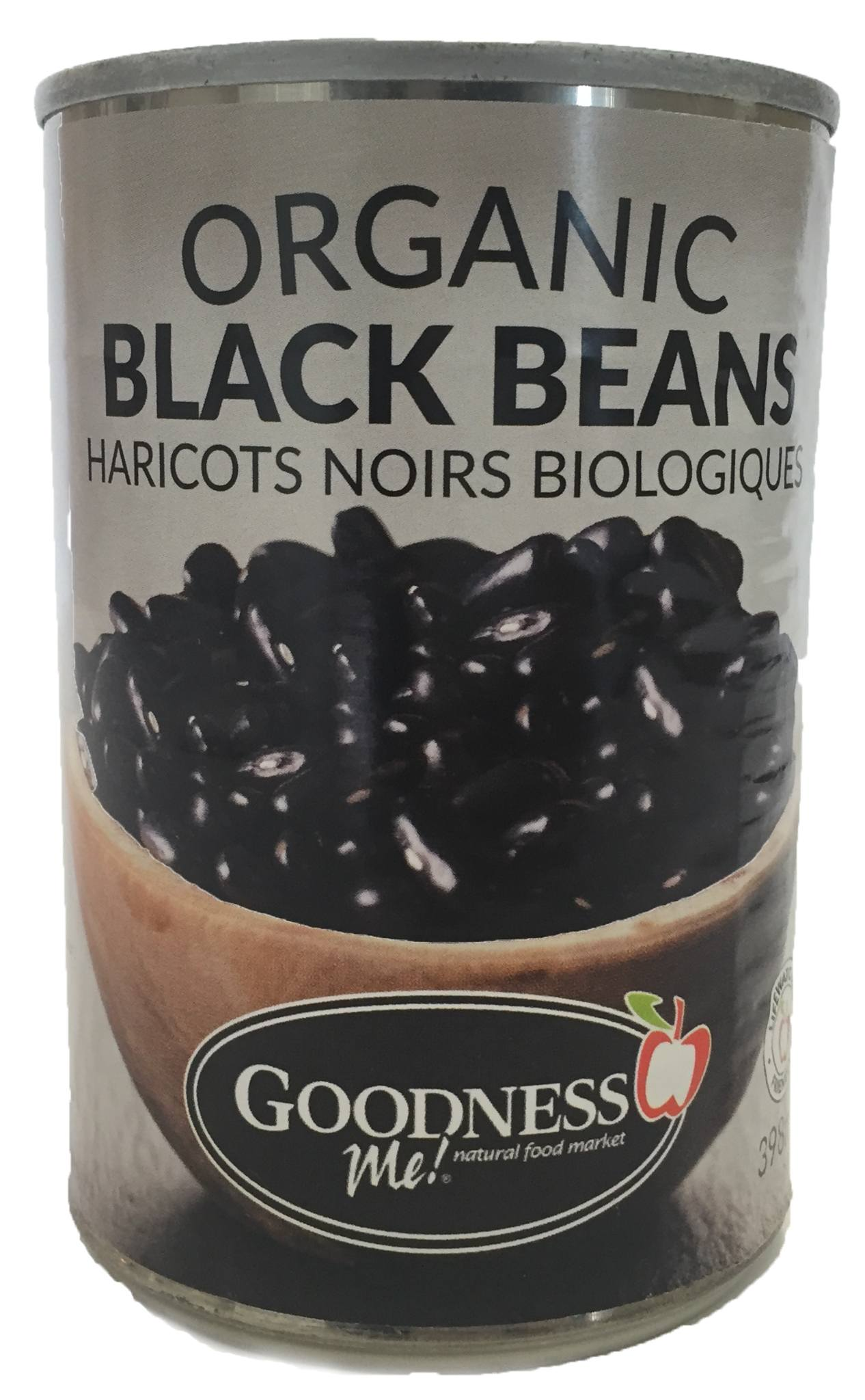 Food & Drink - Goodness Me! - Organic Black Beans, 398 Ml