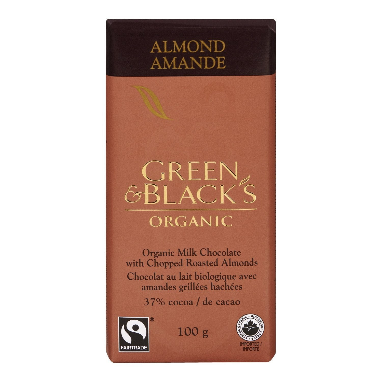 Food & Drink - Green & Black's Organic - Almond Milk Chocolate, 100g
