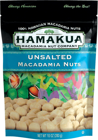 Food & Drink - Hamakua Plantation - Unsalted Macadamia Nuts - 283G