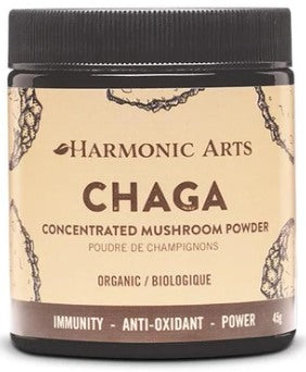 Food & Drink - Harmonic Arts - Concentrated Mushroom Powder, Chaga, 45g