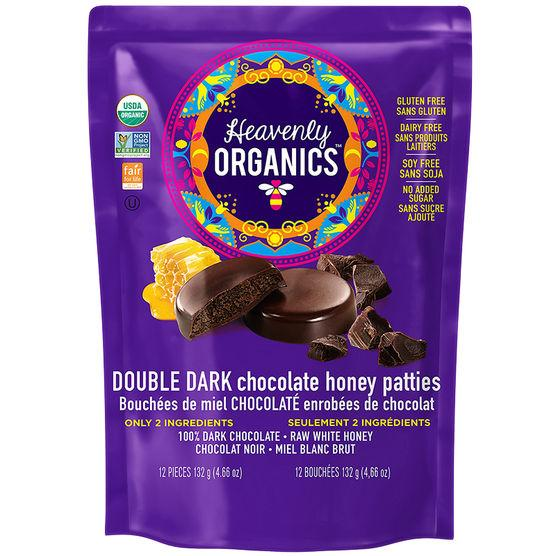 Food & Drink - Heavenly Organics - Double Dark Chocolate Honey Patties, 132g