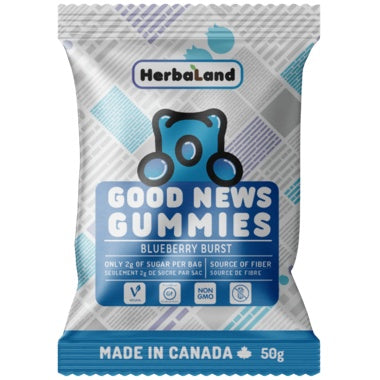 Food & Drink - Herbaland - Blueberry Burst Gummies, 50g