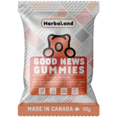 Food & Drink - Herbaland - Peach Passion Gummies, 50g