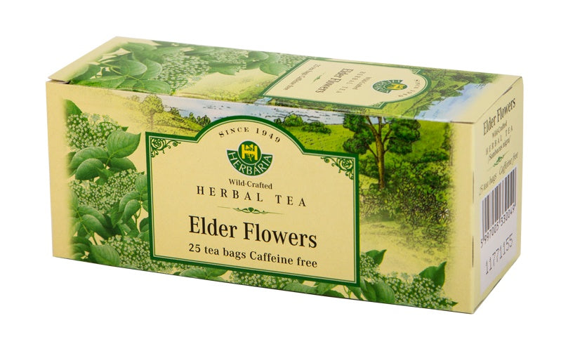 Food & Drink - Herbaria - Elder Flowers Tea, 25 TEA BAGS