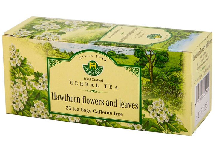 Food & Drink - Herbaria - Hawthorn Flowers & Leaves Tea, 25 TEA BAGS