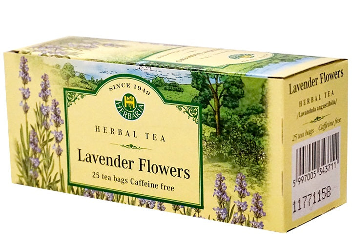 Food & Drink - Herbaria - Lavender Flowers Tea, 25 TEA BAGS