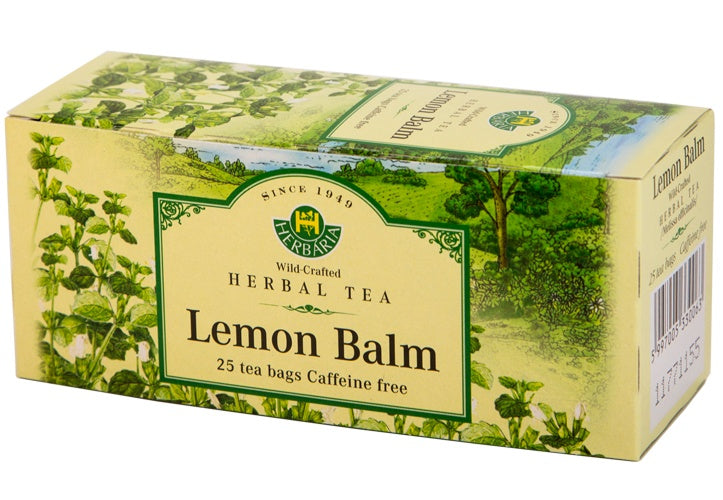 Food & Drink - Herbaria - Lemon Balm Tea, 25 TEA BAGS