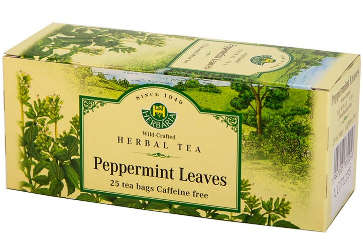 Food & Drink - Herbaria - Peppermint Leaves Tea, 25 TEA BAGS