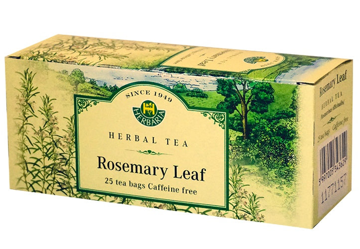 Food & Drink - Herbaria - Rosemary Leaf Tea, 25 TEA BAGS