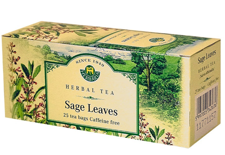 Food & Drink - Herbaria - Sage Leaf Tea, 25 TEA BAGS