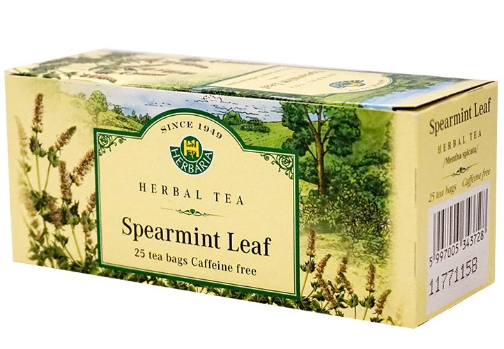 Food & Drink - Herbaria - Spearmint Tea, 25 TEA BAGS