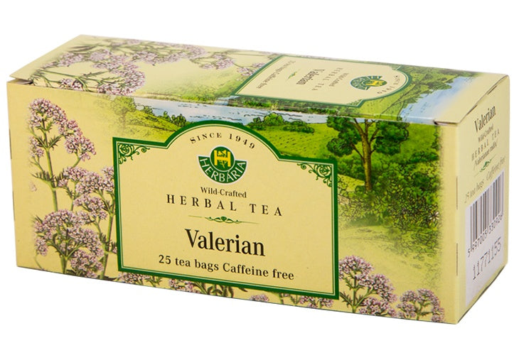 Food & Drink - Herbaria - Valerian Root Tea, 25 TEA BAGS