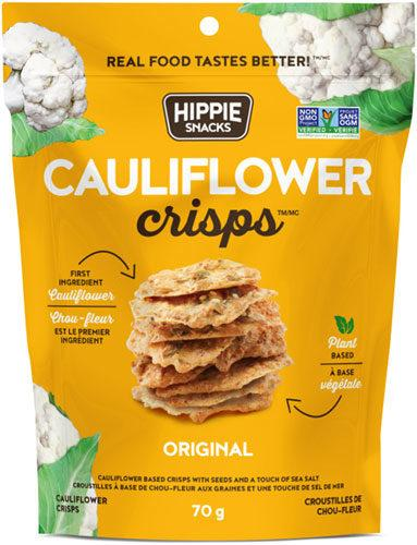 Food & Drink - Hippie Foods - Cauliflower Crisps Original, 70g