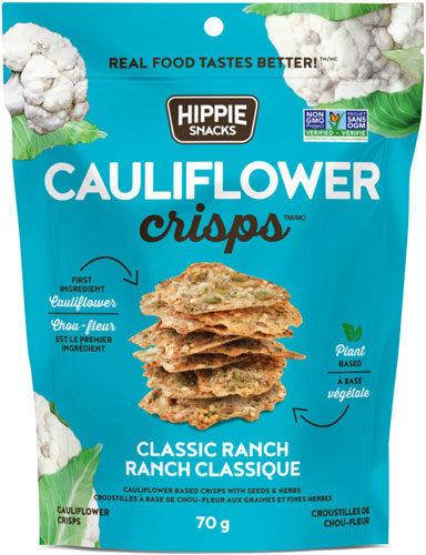 Food & Drink - Hippie Foods- Cauliflower Crisps Ranch, 70g