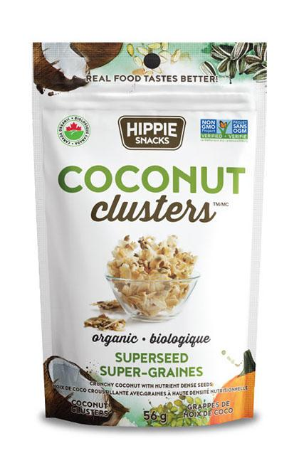Food & Drink - Hippie Foods - Coconut Clusters Superseed - 56 G