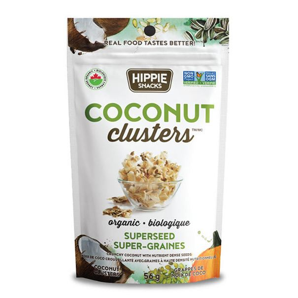 Food & Drink - Hippie Foods - Coconut Clusters Superseed, 56g