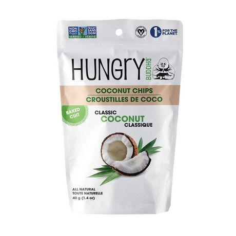 Food & Drink - Hungry Buddha - Classic Coconut Chips, 40g